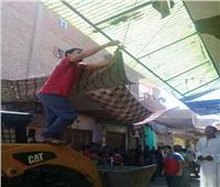 تنفيذ 23 إزالة إدارية خلال حملة بشوارع أبوقرقاص في المنيا