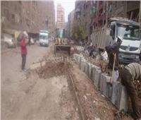 تطوير شارع ترعة بشتيل بالجيزة بطول 500 متر
