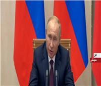 فيديو| بوتين: نأمل في زيادة التعاون مع مصر في مجالات النفط والغاز