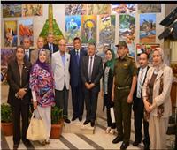 معرض للوحات الفنية لطلاب كلية التربية النوعية بجامعة عين شمس