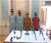 ضبط 5 أشخاص بحوزتهم أسلحة آلية بأسيوط