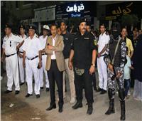 صور| مدير أمن الإسماعيلية يقود حملة مكبرة لإزالة الإشغالات