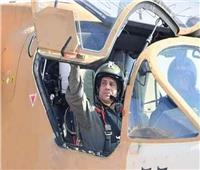 القائد الأعلى للقوات المسلحــــــة فى زي «نسور الجو»