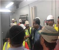 صور| وزير النقل يتفقد غرفة التحكم بالجزء الأول للمرحلة الرابعة للمترو