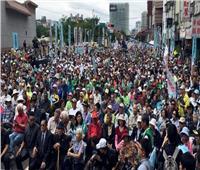 الآلاف يتظاهرون في تايوان للمطالبة باستفتاء على الاستقلال