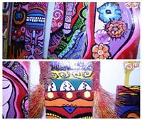 شاهد.. كيف تحولت «الدكك المدرسية» للوحات فنية