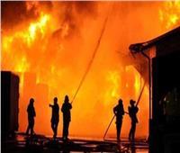 السيطرة على حريق مصنع إسفنج في أبوالنمرس