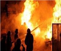 انتداب المعمل الجنائي في حريق مزرعة نخل بالصف لتحديد أسباب الحريق