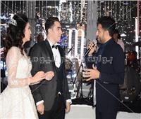 صور| حماقي وبوسي يتألقان بزفاف «إبراهيم وفاطمة»