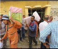 صور.. تفاصيل إخلاء 57 أسرة من منازلهم ونقلهم للأسمرات