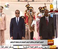بالصور.. الرئيس السيسى يصل إلى الخرطوم للقاء البشير