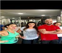 «غادة عادل» و«دينا فؤاد» و«دينا عبدالعزيز» في الجيم