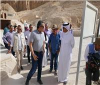 صور| سلطان بن سلمان يزور آثار الأقصر بحضور «العناني»