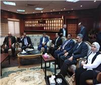 وفد «حقوق الإنسان» بالبرلمان يزور مديرية أمن بني سويف