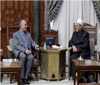 الإمام الأكبر يلتقي وزير الموارد المائية والري