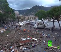 فيديو| خسائر فادحة بإيطاليا بسبب الفيضانات