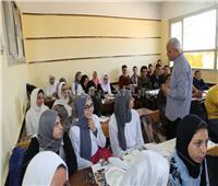 محافظ المنوفية يتفقد مدرسة الشهيد طيار محمود عزت الثانوية