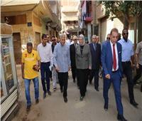جولة تفقدية لمحافظ المنوفية بشوارع مدينة سرس الليان