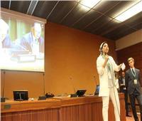 طالبة بطب بيطرى بنها تلقي كلمة عن تمكين الشباب أمام سكرتير الامم المتحدة