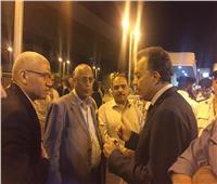 صور| وزير النقل يتفقد محطتي الجيزة للسكك الحديدية والمترو لمتابعة التشغيل