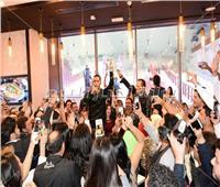 صور  نجوم الفن والإعلام يشاركون في حفل افتتاح أحد المطاعم بمول مصر