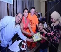 صور  وفاء عامر تكرم أبطال ذوي الاحتياجات الخاصة