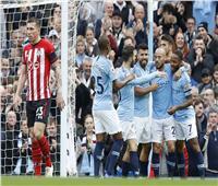 فيديو وصور| مانشستر سيتي يكتسح ساوثهامبتون في الدوري الإنجليزي