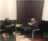 سامح شكري يلتقي وزير خارجية ليبيريا ووزيرة التغير المناخي الباكستانية