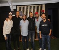 صور| نجوم الفن والرياضة في افتتاح مشروع جديد لنجم مسرح مصر