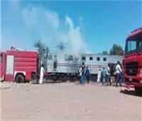 السيطرة على حريق بعربة قطار ببنها دون إصابات
