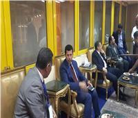 وزير الرياضة يحضر مباراة مصر والجزائر بالبطولة العربية للسلة