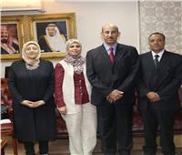 الملحق الثقافي السعودي يستقبل وفد من جامعة أسيوط