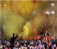 شاهد| جماهير الترجي تشعل مدرجات ملعب رادس