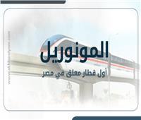 فيديوجراف| «المونوريل» أول قطار معلق في مصر