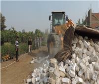 إزالة 52 حالة تعد على الأراضي الزراعية وأملاك الدولة بالقليوبية