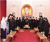 البابا تواضروس يلتقي وفدا من الكنيسة الروسية
