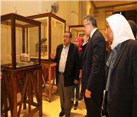 وزير الآثار يتفقد أخر استعدادات المتحف المصري لاحتفاليه العيد الـ ١١٦