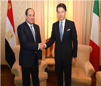 «السيسي» يبحث الملف الليبي وقضية «ريجيني» مع رئيس وزراء إيطاليا
