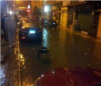 مياه الأمطار تغلق عدد من الشوارع بالإسكندرية