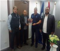 شوبير وسويلم يستقبلان رئيس بعثة أهلي بني غازي الليبي