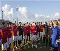 المنتخب الأولمبي يؤدي مرانه الأول في معسكر برج العرب