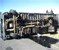 إصابة 14 شخصا في حادث تصادم أتوبيسين بطريق بلبيس - العاشر من رمضان