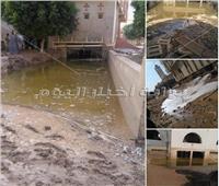صور| السيول تغرق دير الأمير تادرس الشطبي بأسيوط.. وتبتلع حارسه