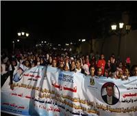 وزير الرياضة يقود مسيرة للمشي بمشاركة 900 شاب في الأقصر