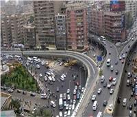 الحالة المرورية بالشوارع والميادين الرئيسية بالقاهرة والجيزة