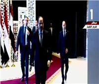 لحظة وصول الرئيس السيسي لمؤتمر التنوع البيولوجي بشرم الشيخ