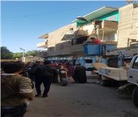 لجنة هندسية لمعاينة العقارات المجاورة لـ«المنزل المنهار» في سوهاج