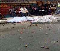 مصرع شخصين سقط عليهما جزء من سور كوبري صفط اللبن | صور