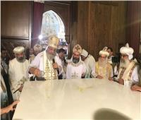 البابا وأساقفة الكنيسة يدشنون أيقونات الكاتدرائية