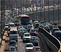 كثافات مرورية بسبب تصادم 3 سيارات أعلى كوبرى أكتوبر اتجاه مدينة نصر